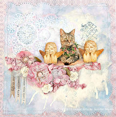Escape Kitty with the Cherubs -Scraps of Elegance