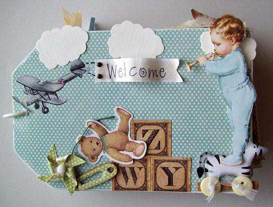 "front cover Mini tag (4""X6"")  Baby Album"