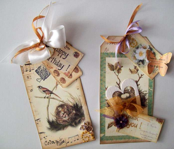 2 Tag cards - Happy Birthday & Thank You