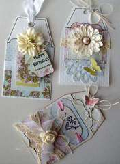 Set of 3 Shabby Chic Tags  (Ivana) card kit from TCM