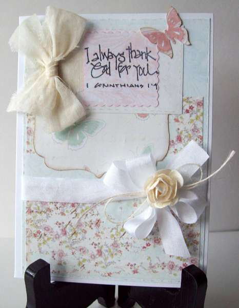 Thank You Shabby Chic Card     (Ivana) card kit from TCM