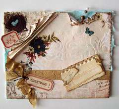 Vintage greeting card w/much thanks to Bonnie for the ppr~!