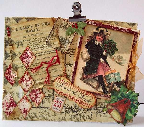 Vintage Christmas card  Joy To The World!