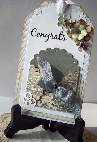 Wedding Shower card tag - gift card holder (harsh lighting!)