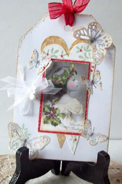 White Christmas card  ( a titch blury; so sorry~)