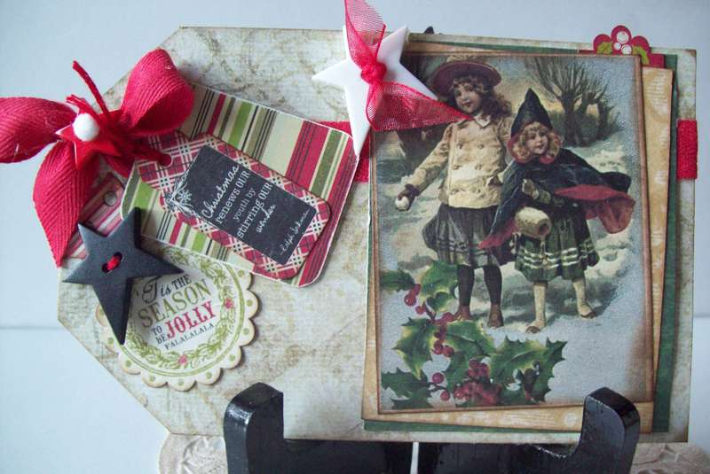 Country Vintage Christmas tag card~  (huge pic! :j sorry