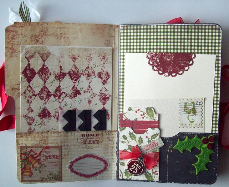 pg 1 & 2 File folder style Christmas album