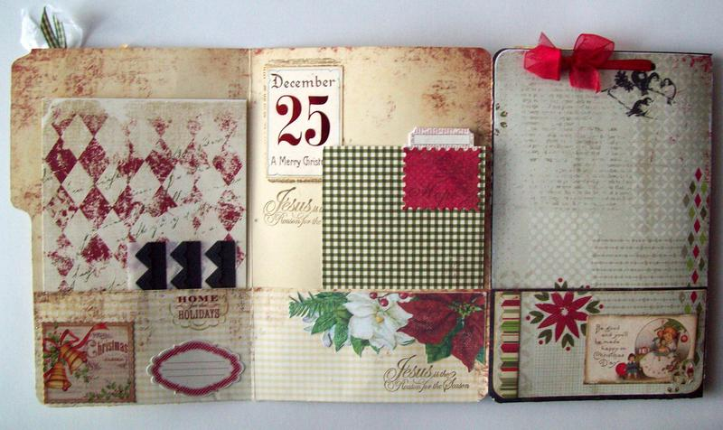 pg 1, 5 & 6 File folder style Christmas album (Jesus is the reason for the season!)