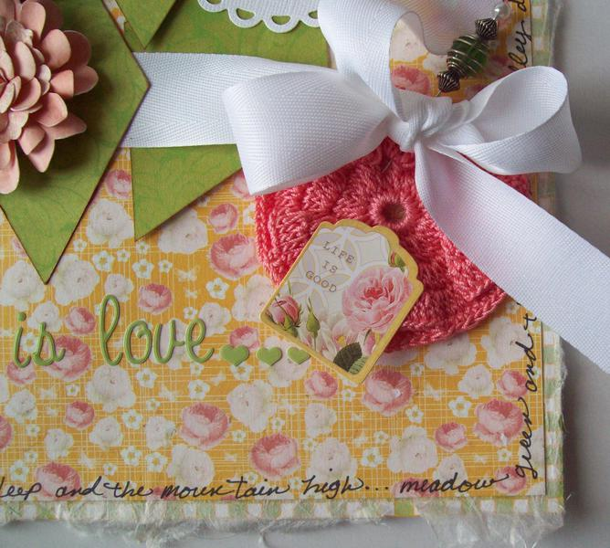 Pink Petals book(close up - mulberry ppr edge)  Margaret paper Websters Pages