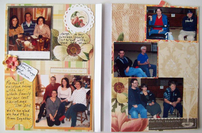 """6""""X8"""" 2 picture pages for """"Pink Petals"""" book  ~Friends and Family~"""
