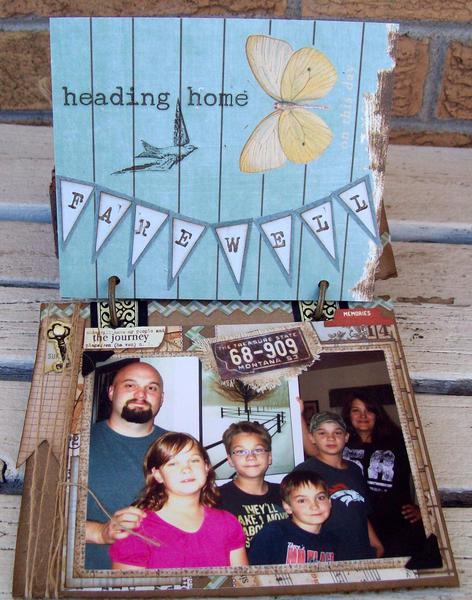 Last page CO mini album Corrugated board (MT gang's vacation 8/12)
