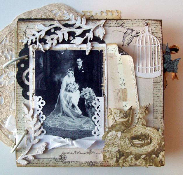 Vintage Family Wedding Album  6X6 G&GM