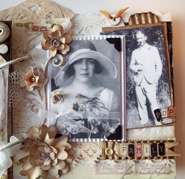 Vintage Family Wedding Album  6X6 G&GF
