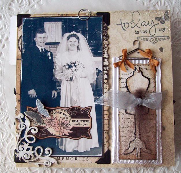 Last one~!!  Vintage Family Wedding Album P&G (Blue Fern chipies)