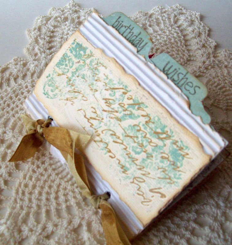 Teeny Birthday Book  - Front cover~