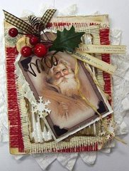Wish Imagine   vintage style Christmas card