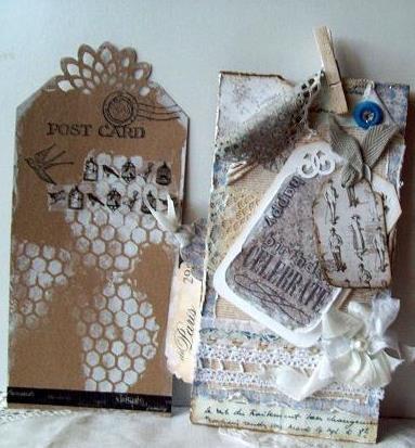 Greeting tag and paper bag card