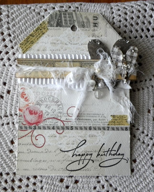 Tag Birthday Card - in neutrals