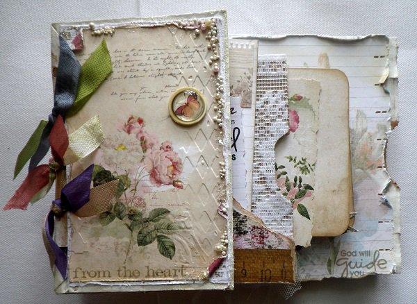 Front of my Shabby Paperbag mini album