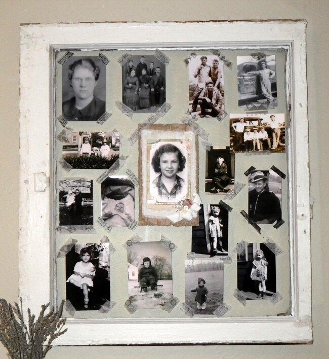 Old Window Photo Collage (using washi)