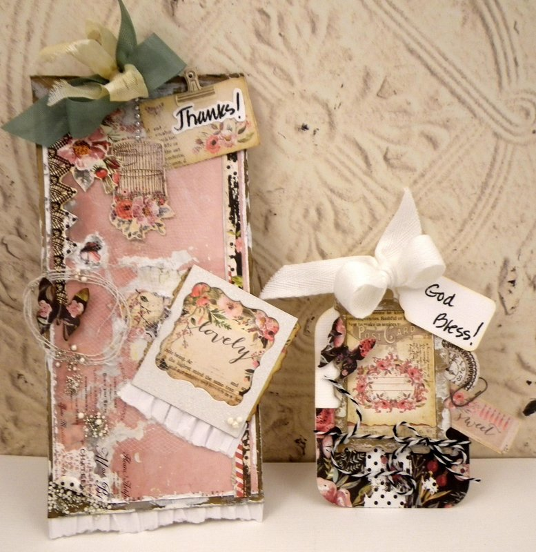 sort of grungy : ), shabby tag cards