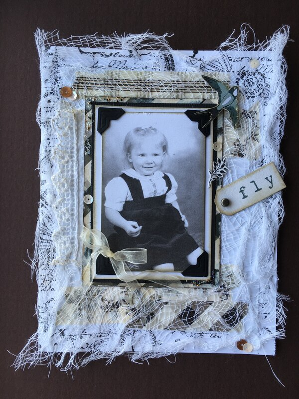 """Vintage style birthday card """"fly"""""""