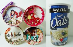 Home Decor Made With Oatmeal Container