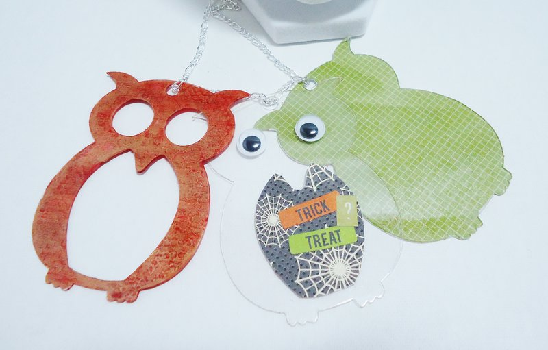 Trick or Treat Owl Necklace