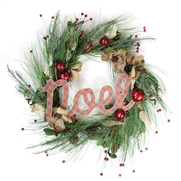 Classic Christmas Noel Wreath