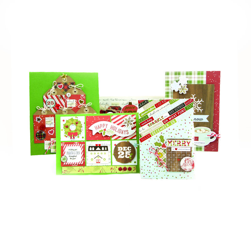 Christmas Cards featuring Simple Stories Classic Christmas Collection