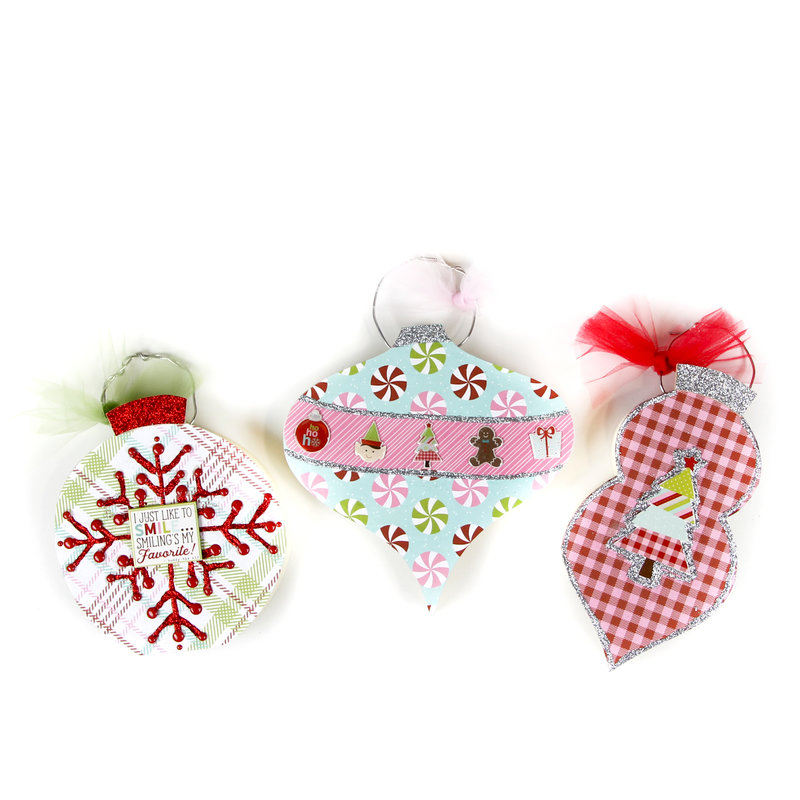 Wood Ornament featuring Simple Stories Mistletoe Kisses Collection