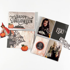 6x8 Pocket Page Featuring Simple Vintage Halloween