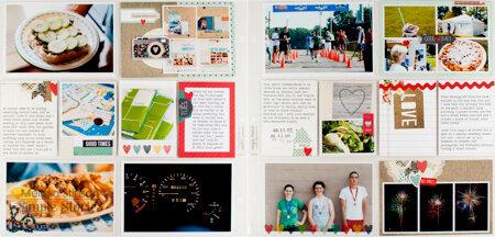 Simple Stories Homespun Pocket Page spread