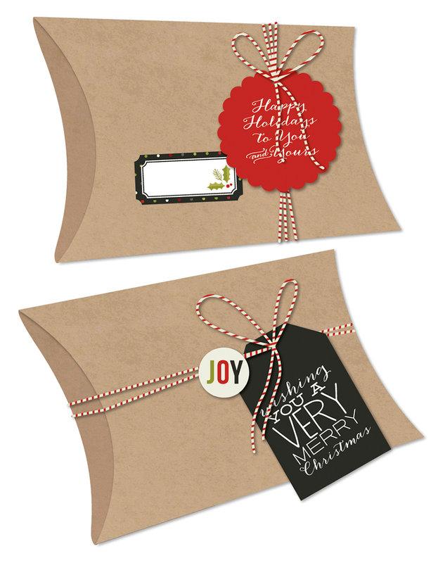 DIY Christmas pillow box