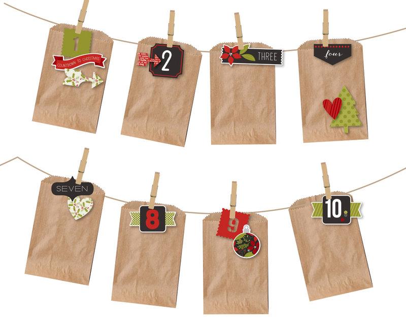 Treat Bag DIY Christmas countdown banner