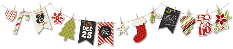 DIY Christmas Bunting Banner