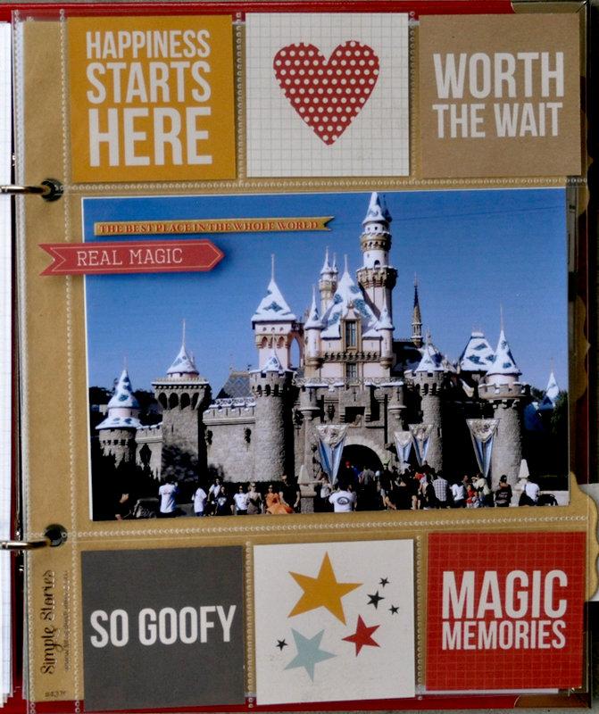 Disney 6x8 Insta Pocket Page Spread