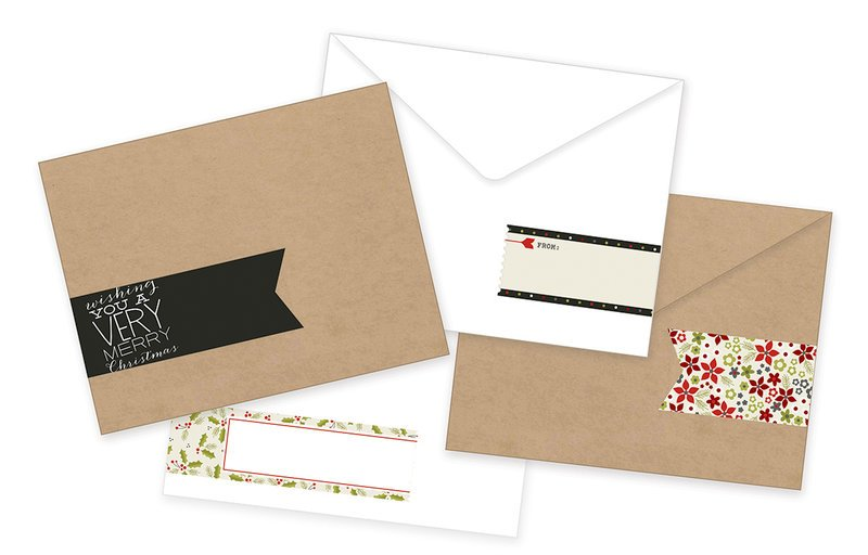 DIY Christmas Card w/envelope and envelope wrap