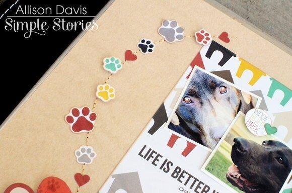 Simple Stories Dog SN@P! Set + Allison Davis Sketch