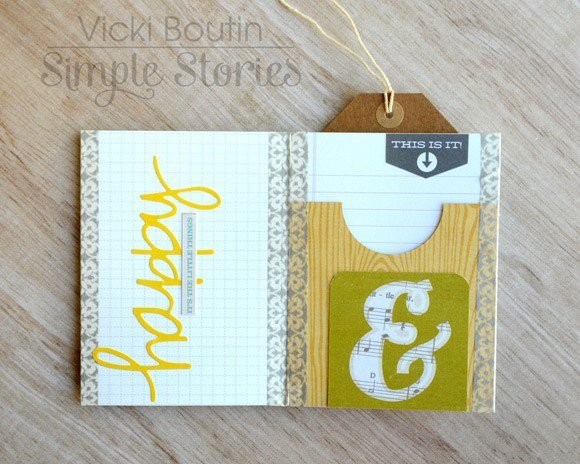 Hello Baby Accordion Card by Vicki Boutin