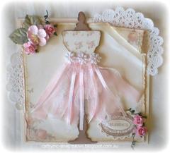 Shabby Chic Dress Form Card