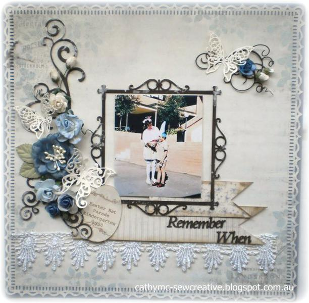 Remember When ~ Easter Layout