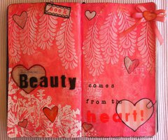 Art journal page: Beauty comes from the heart