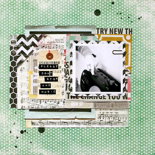 Please don't stop the music *DT SCraptastic SCrapbOok Club*