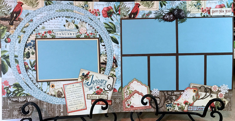 Graphic 45 - Time To Flourish - January 2 Page Layout
