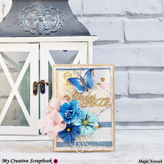 Butterfly Wedding Card *DT My Creative Scrapbook*