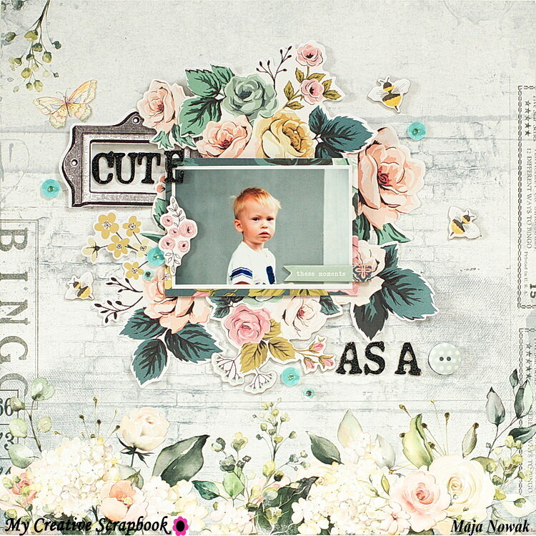 Cute As A Button *DT My Creative Scrapbook*