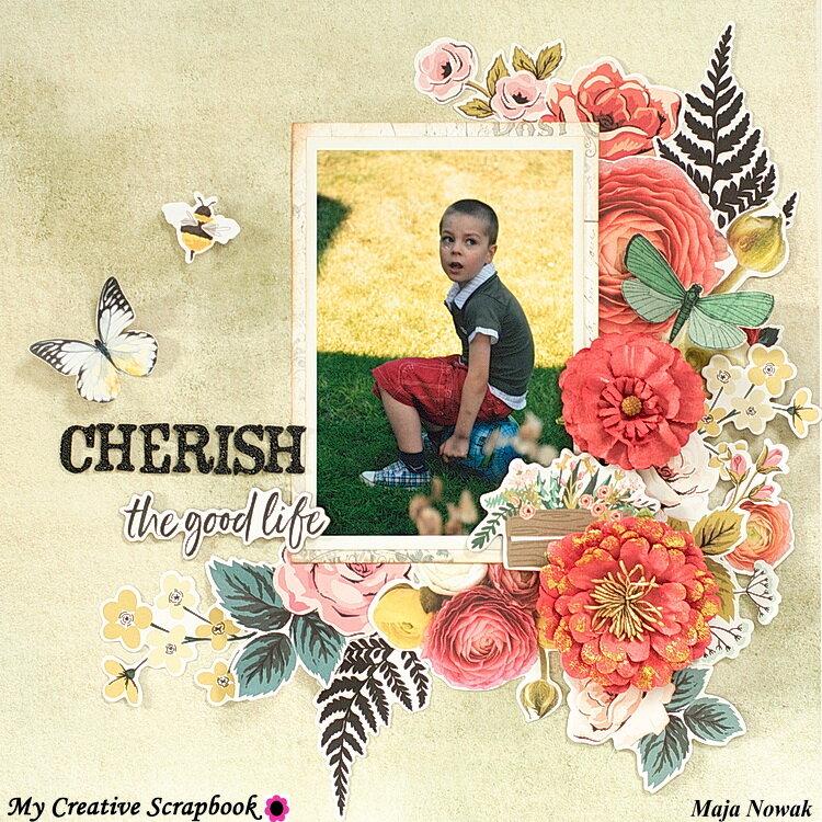 Cherish The Good Life *DT My Creative Scrapbook*