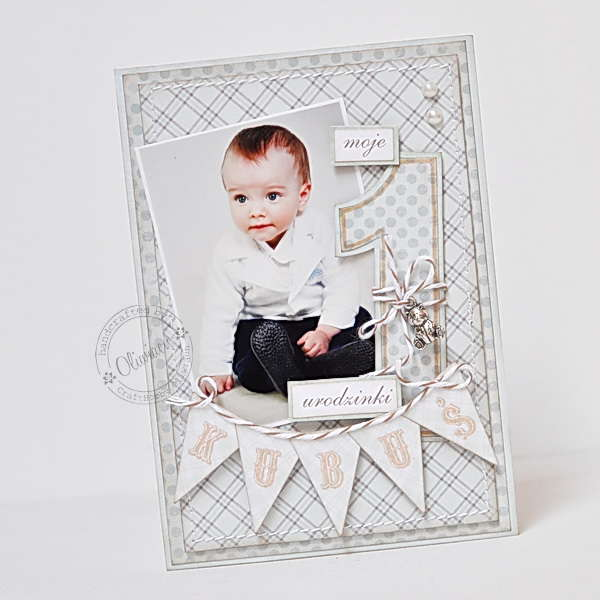 1st Birthday Card *DT The ScrapCake*