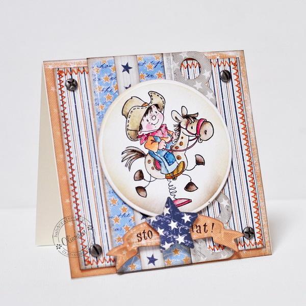 Little Cowboy Card *GD Maja Design*
